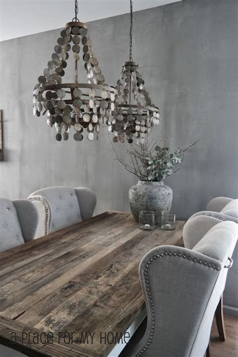 grey wood dining room table and chairs gray dining room design dining room