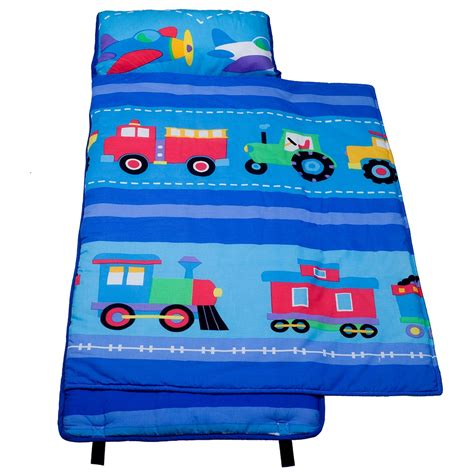 100 Cotton Nap Mat - wildkin olive trains planes trucks 100 cotton nap