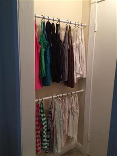 apartment closet tank tops ideas about make a closet on how to organize tank tops camis shower curtain rods