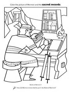 book of mormon coloring pages mormon compiles sacred writings