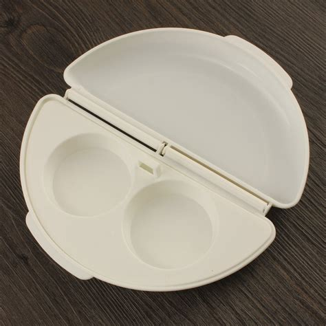 Tali Angkat Furnitur 2pcs microwave omelet egg tray cooker pan white jakartanotebook