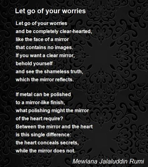 it s justuff the of letting go books let go of your worries poem by mewlana jalaluddin rumi