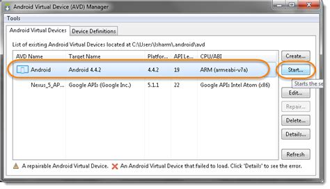 reset android virtual device newautomationworld how to create an android virtual