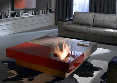 coffee tables  built  fireplace digsdigs