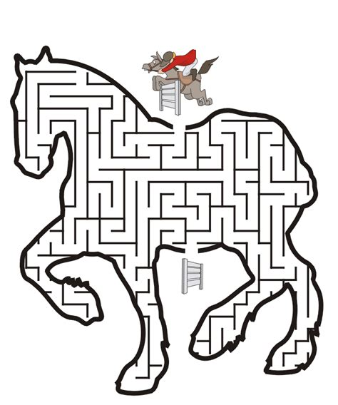 printable horse maze free coloring pages of pirate mazes