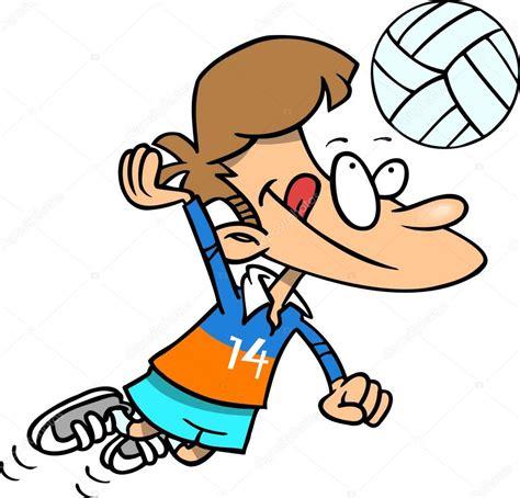 imagenes de niños jugando volibol ni 241 o de dibujos animados jugando voleibol vector de