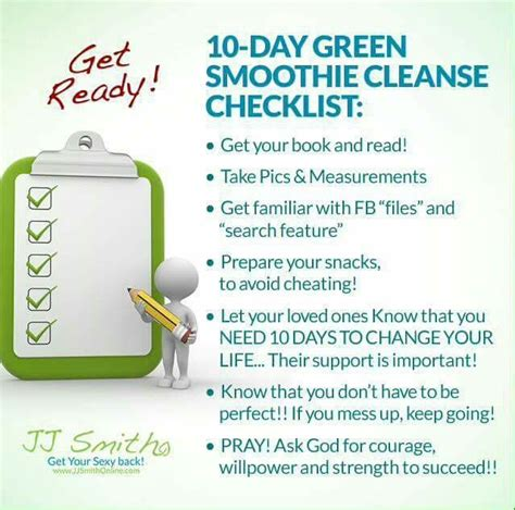 Jj Smith Detox Diet by Jj Smith 10 Day Green Smoothie Cleanse Fitness Center