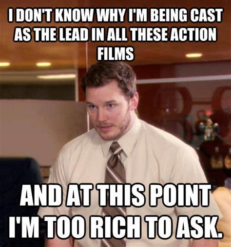 Chris Pratt Meme - livememe com at this point i m too afraid to ask andy