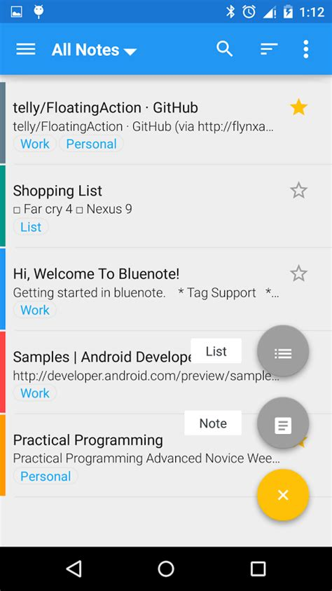 android notes app bluenote notes and lists android apps on play