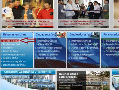 cuenta individual instituto venezolano del seguro social obligatorio ivss cuenta individual