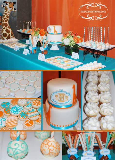 baby bathroom ideas teal and orange baby shower giraffe theme baby shower