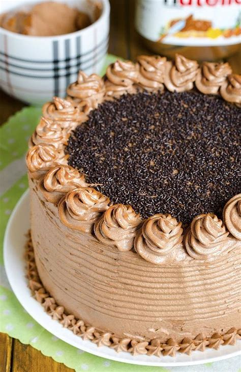 decadent nutella chocolate cake chocolate dessert recipes omg chocolate desserts