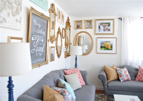 gold walls in living room coral and mint living room reveal mint living rooms gallery wall and living rooms