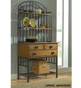 Bakers Rack With Storage Cabinets by Distressed Kitchen Hutch Cabinet China Pantry Cupboard