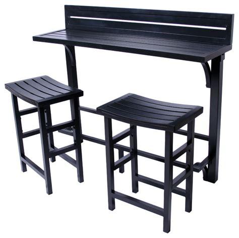 Pub Bistro Table Sets Modern Balcony Bar Black Contemporary Indoor Pub And Bistro Sets By Miyu Furniture