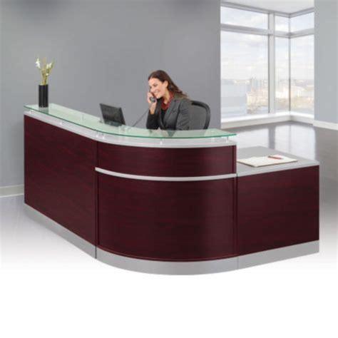Glass Top Reception Desk Glass Top Reception Desk 95w X 64d 8803480 Officefurniture