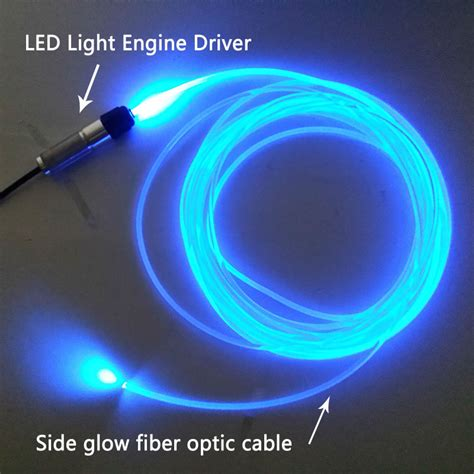 3m dc12v side glow fiber optic light kit for car