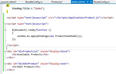 div section single page application in mvc 4 application using sammy js