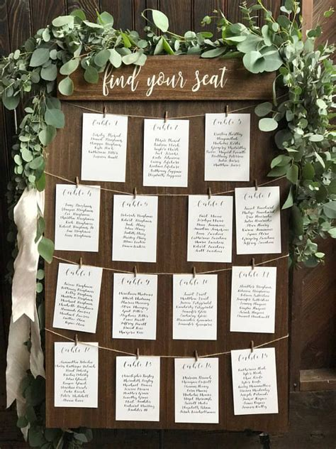 table number of seats best 25 wedding table assignments ideas on