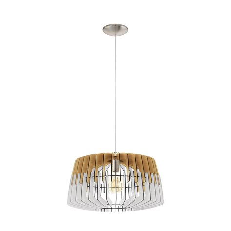 Single Pendant Ceiling Lights Eglo Lighting Artana Single Light Large Ceiling Pendant In Satin Nickel Finish With White And