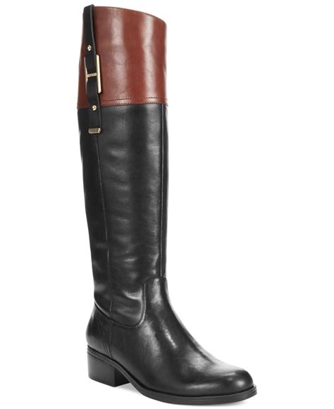 womans wide calf boots lyst hilfiger s gibsy wide calf boots