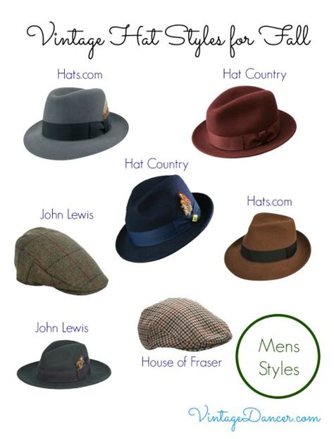 5 Hat Styles Which Will You Rock by Vintage Hat Styles For Fall Winter Vintage 1940s Mens