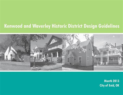 design guidelines for local historic districts enid historic district design guidelines on behance