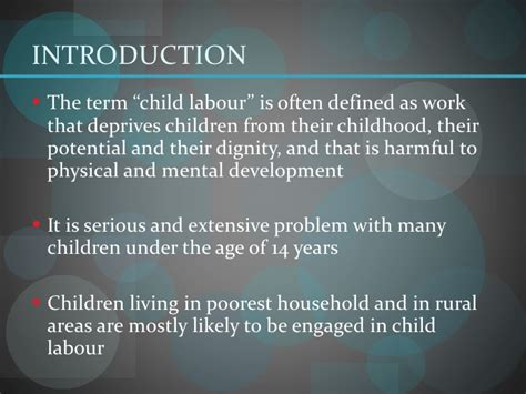 research paper on child labour child labour and its impact on economic growth