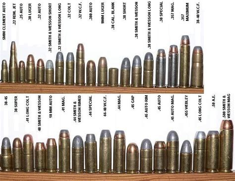 pistol bullet caliber sizes chart pin by isaiah vigil on ammo and ballistics pinterest