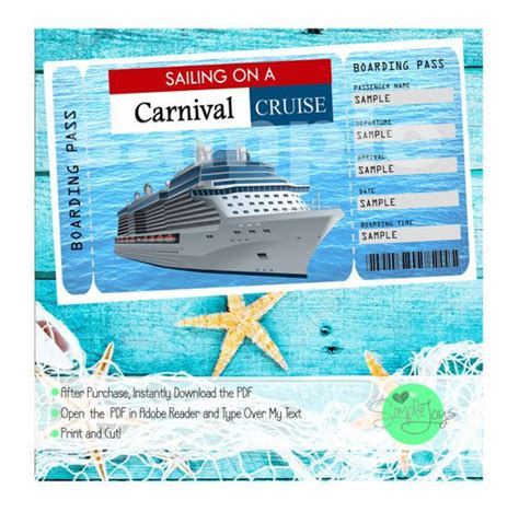 printable cruise tickets pinterest the world s catalog of ideas