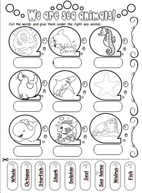 printable ocean games we are sea animals teacher s love animals