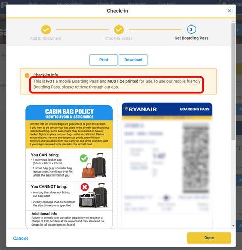 mobile check in ryanair tickets does ryanair accept the image of the boarding