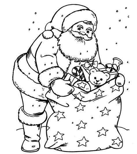 santa bag coloring page printable christmas coloring page santa with a sack full