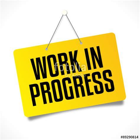 quot work in progress quot fichier vectoriel libre de droits sur la banque d images fotolia image
