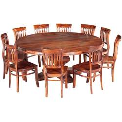 Wooden Dining Table Chairs Large 84 Quot Rustic Solid Wood Dining Table For 10