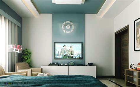 one wall painting one wall a different color in a bedroom home combo