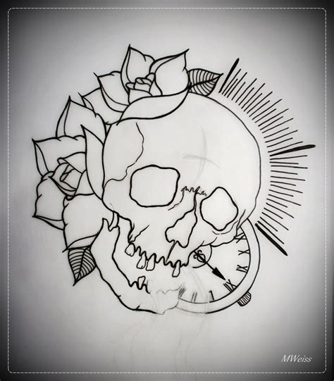 outline tattoo designs traditional skull outline search tattoos
