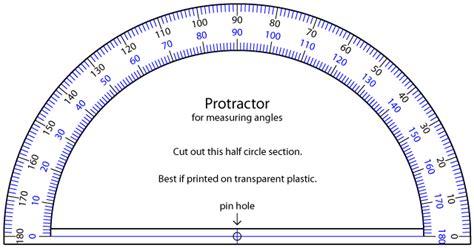 printable protractor 180 pdf printable protractor homeschool math pinterest