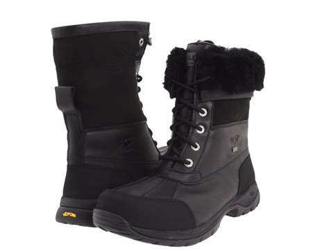 ugg mens winter boots mens ugg australia butte black winter boots waterproof