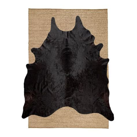 seagrass rug ikea sinnerlig rug ikea seagrass with black cowhide on top swoon worthy