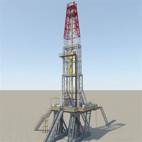 drilling rig image land rig site 1 3d animation oil 3d land rig