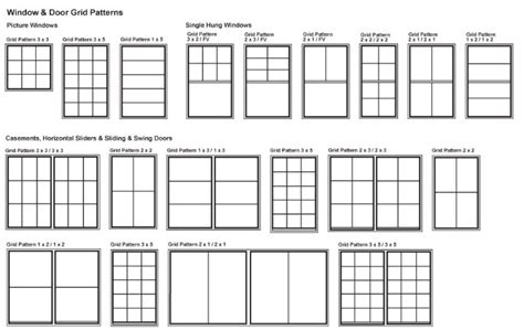 grid pattern types new and replacement windows from roi home improvements