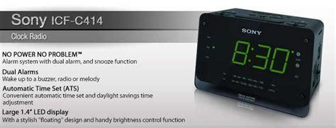 sony icf c414 clock radio 1 4 led display auto time set no power no problem alarm system