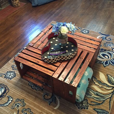 Diy Wooden Crate Coffee Table The Legal Duchess Wooden Crate Coffee Table Diy