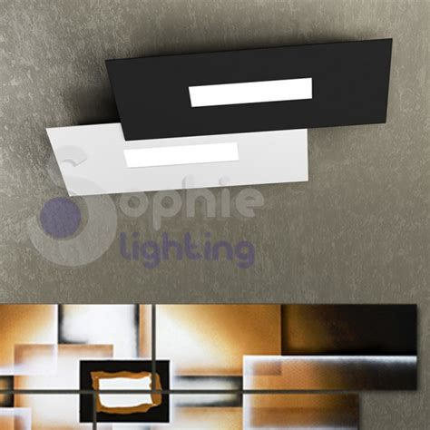 plafoniera soffitto led plafoniera soffitto led design moderno minimal bianco nero