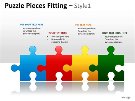 puzzle pieces template for powerpoint puzzle pieces fitting style 1 powerpoint presentation
