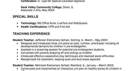 Early Childhood Education Resume by Early Childhood Education Resume Sles Sle Resumes