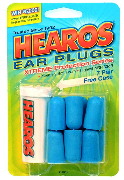 Hearos Protection Ear Plugs 33db Eceran 3 Pair Blue 7 pairs hearos ear muffs nnr 33 earpiece ear plugs protection ebay