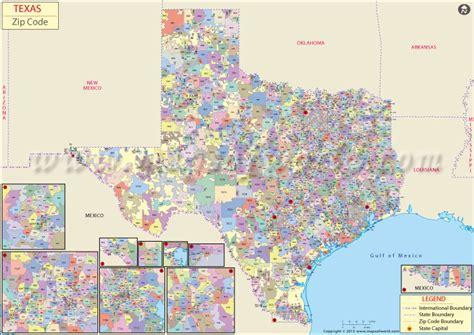zip code maps texas buy texas zip code map