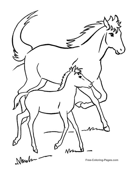 horse coloring pages games online free coloring pages of horses 029